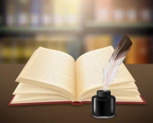 trabajo-literario-escrito-mano-paginas-libro-abierto-pluma-tintero-realistas_1284-27080