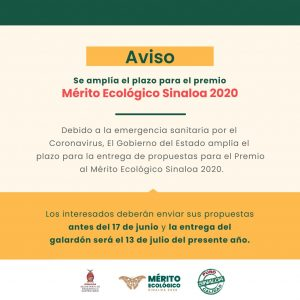 Mérito Ecológico Sinaloa 2020