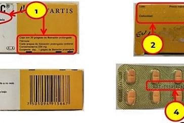 "La COEPRISS alerta sobre la falsificación del medicamento ""Tegretol LC"""
