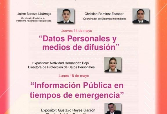 Invitación a participar en conferencias sobre periodismo en transparencia.