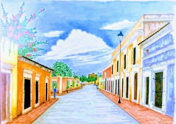 Perpectiva Calle Principal El Rosario Pueblo Mágico Zona Trópico Arq. José Rivera 2020