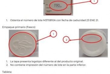 Alertan sobre la falsificación del producto Atripla