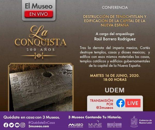 INAH Invita a Transmisión en Vivo sobre Tenochtitlán 1