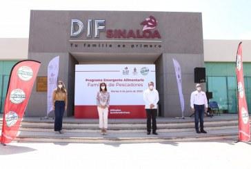 Sinaloa y Secretaría de Pesca distribuirán 50 mil despensas a familias de pescadores