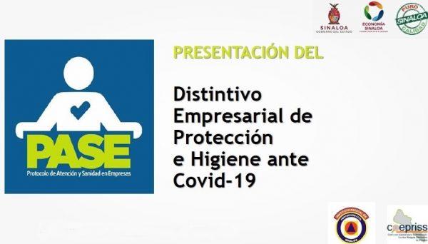 Distintivo PASE Sinaloa Presentación Julio de 2020 Descargable Mazatlán Interactivo