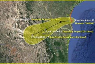 Hanna Traerá lluvias a Sinaloa se recomienda tomar precauciones