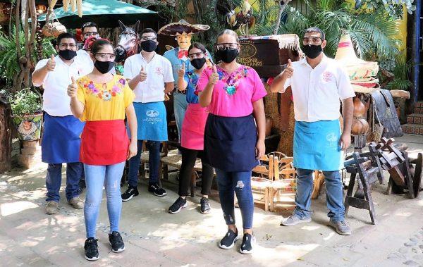 Restaurante El Mesón de los Laureános Recibe Distintivo de Sanidad de Sectur Sinaloa 2020 CV 19 (3)