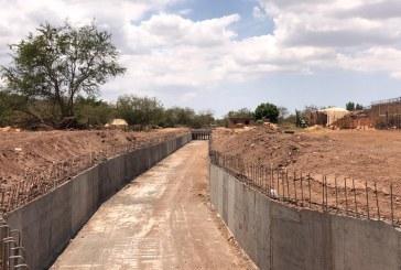 Culmina obra en El Arroyo El Piojo