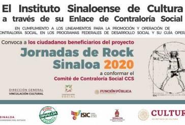 Convocan a integrar el Comité de Contraloría  Social de las Jornadas de Rock Sinaloa 2020