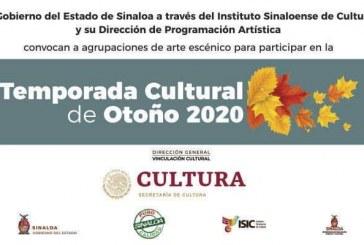 Invitan a creadores escénicos a participar en la Temporada Cultural de Otoño 2020
