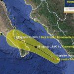 """La Tormenta Tropical Hernan se localiza frente a las costas de Sinaloa informa SMN: Protección Civil Sinaloa"""