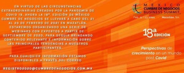 Mazatlán Sinaloa México México Cumbre de Negocios en 2021