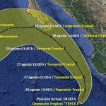 Se ha formado la Depresión Tropical 13-E, informa el SMN: Protección Civil Sinaloa