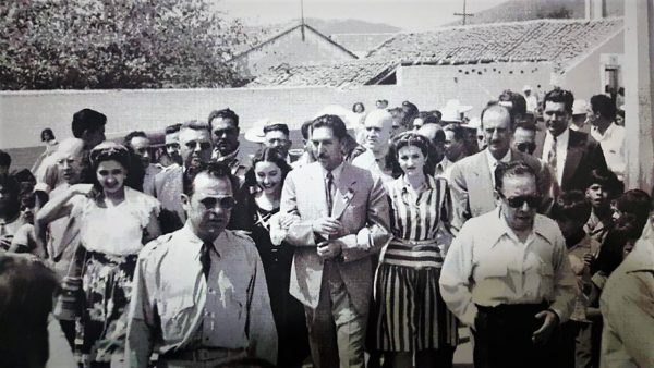Lic. Miguel Alemán Presidente de México en su Visita a El Rosario en 1951