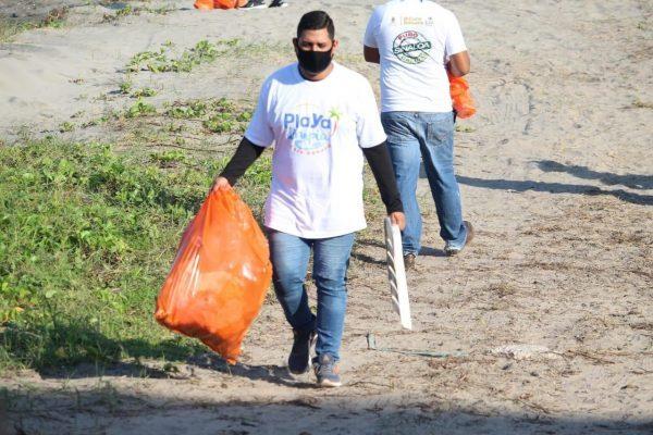 Limpieza de Playas Nuevo Altata Las Aguilillas Navolato Sinaloa México Agosto 2020 3