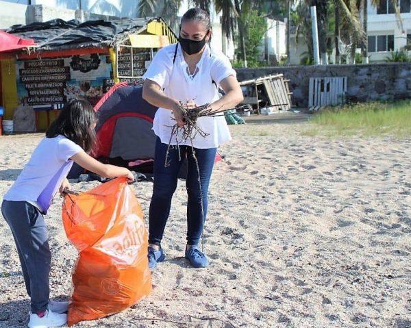 Jornada de Limpieza Playa Brujas Mazatlán Zona Trópico Sinaloa México SEDESU 2020 (12) b