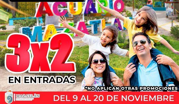 Buen Fin Acuario Mazatlán 3X2 2020