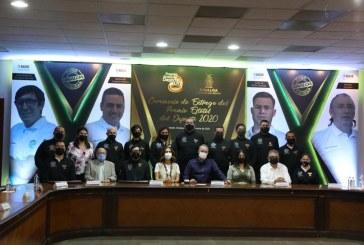 Quirino entrega el Premio Estatal del Deporte 2020