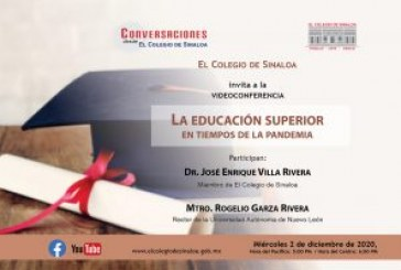 José Enrique Villa Rivera conversará con Rogelio Garza Rivera sobre educación superior en tiempos de pandemia