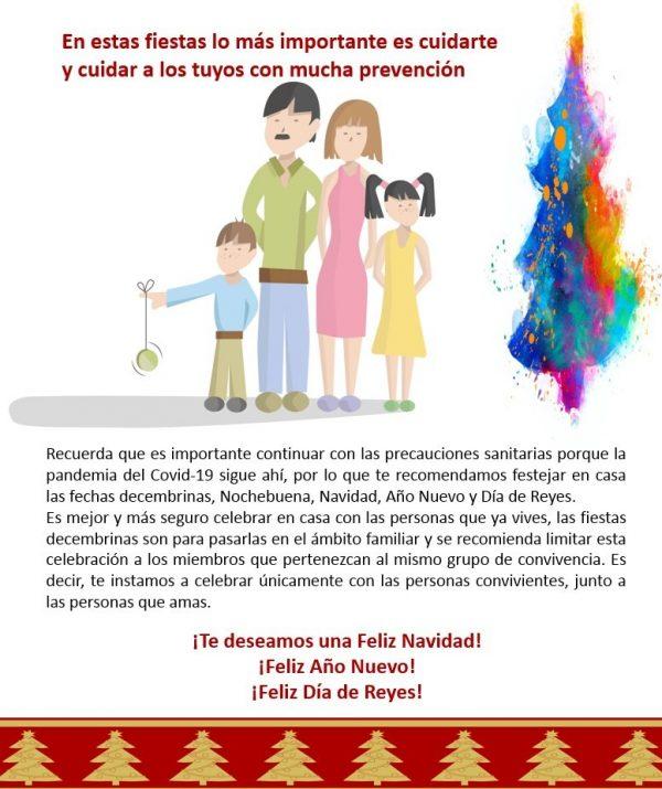 En casa es mejor! Instan a Celebrar las Fiestas Navideñas de Año Nuevo y Reyes en Familia 2020 4
