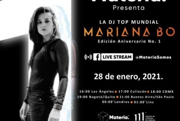 "Concierto virtual de la DJ ""Mariana Bo"""