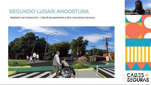 Calles Seguras para Mazatlán Culiacan y Angostura Proyectos Ganadores 2021 Angostura Segundo Lugar
