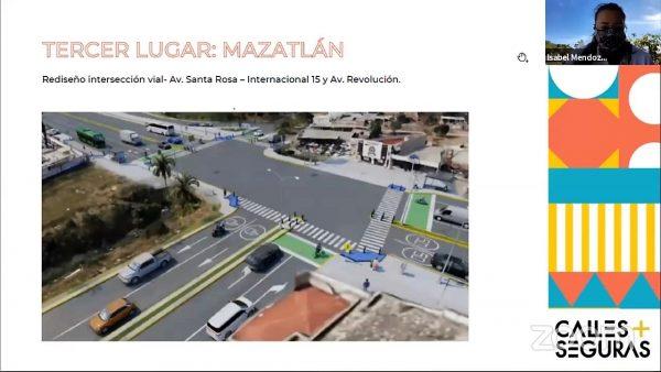 Calles Seguras para Mazatlán Culiacan y Angostura Proyectos Ganadores 2021 Mazatlán Tercer Lugar
