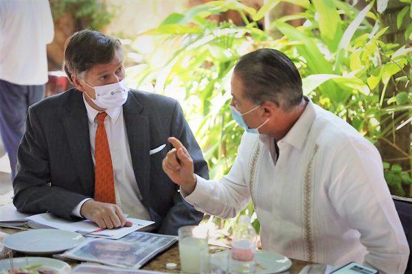 Quirino Ordaz Coppel Gobernador de Sinaloa se reúne con Embajador de Estados Unidos en México 2021 1
