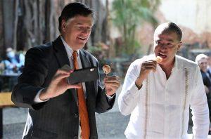 Quirino Ordaz Coppel Gobernador de Sinaloa se reúne con Embajador de Estados Unidos en México 2021 2
