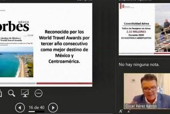 Óscar Pérez Barros Rinde informe de Turismo ante el Congreso de Sinaloa