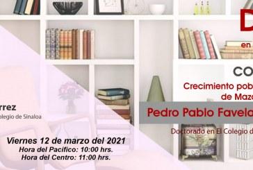 Pedro Pablo Favela expondrá sobre el crecimiento poblacional y económico del puerto Mazatlán durante el siglo XIX