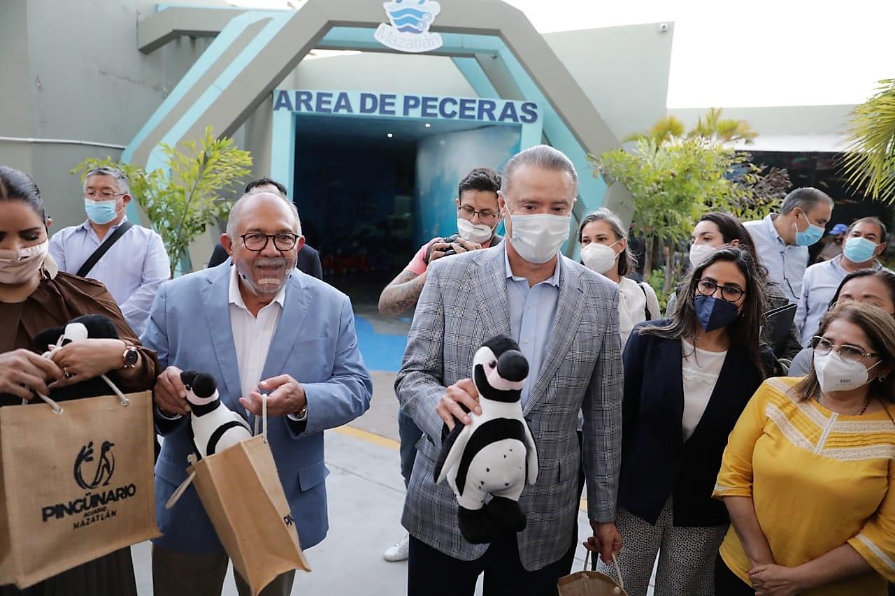 Inauguración Pinguinario de Mazatlán Autoridades 2021