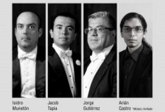 Listos músicos de la OSSLA con el cuarteto para clarinete de Bernhard Crusell