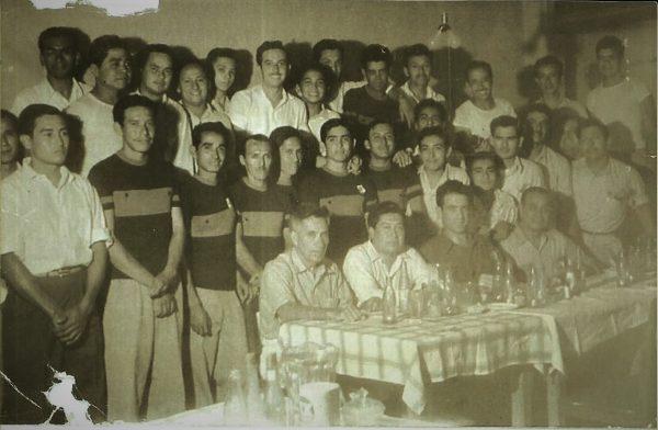 Jesús Serrano y Manuel Sordia 1941 Mazatlán México en Bicicleta Club