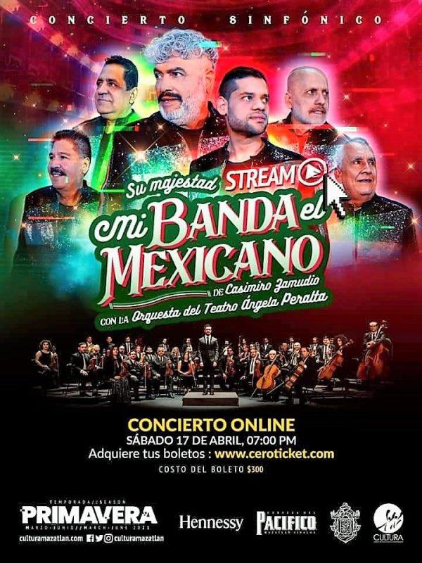 Mi Banda El Mexicano y Orquesta Sinfónica del TAP en Concierto Mazatlán 2021 5