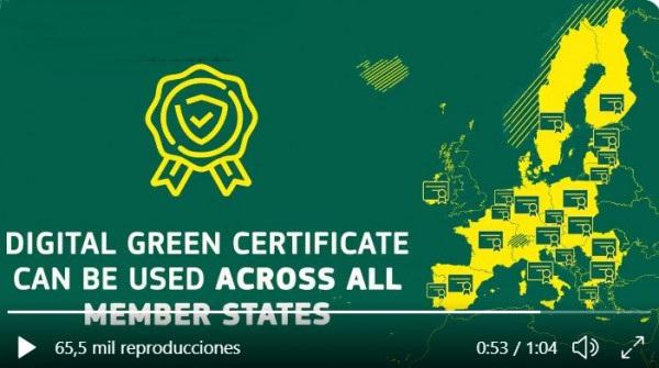 El Presidente del Gobierno presenta en FITUR el Certificado Verde Digital 1