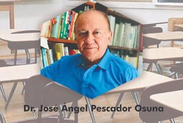 José Ángel Pescador Osuna disertará sobre la educación  en el nuevo enfoque presencial