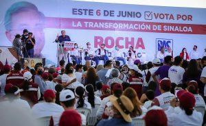 Llama Rocha a concretar el 6 de junio la hazaña de transformar Sinaloa Cierre de Campaña Mazatlán El Rosario 2021 2