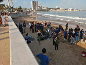Pesca Azteca por un Plantea más Limpio Limpieza de Playa Norte Mazatlán 2021 2