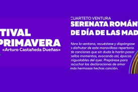 """Ofrecerá Cuarteto Ventura su """"Serenata  romántica de Día de las Madres"""" este 10 de mayo"""