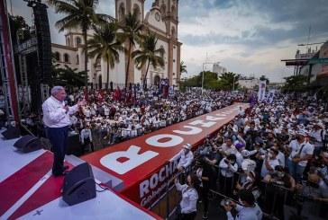 Cierra Rubén Rocha Moya  histórica campaña de la esperanza y la transformación
