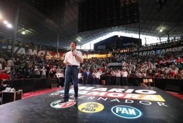 Con monumental fiesta, Mario Zamora anticipa triunfo por la evolución de Sinaloa