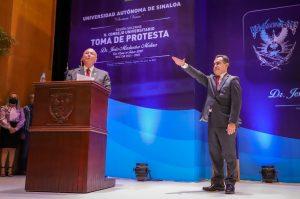 Rubén Rocha Moya Gobernador Electo Sinaloa Toma P´rotesta Rector UAS Jesús Madueño Molina 2021 1