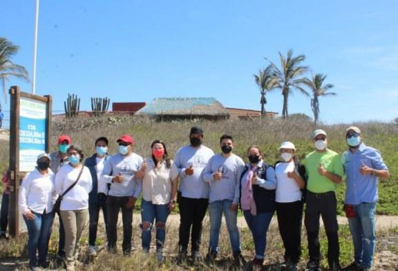 SEDESU y CTTMX instalan primera fase del proyecto GPS Huevo de Tortuga