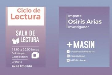 Esta semana continúa el ciclo de  lectura del MASIN, con Osiris Arias