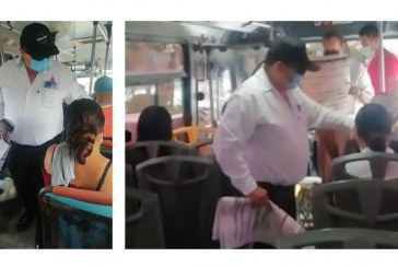 Inicia la DVyT campaña de concientización anti COVID  entre usuarios de camiones urbanos