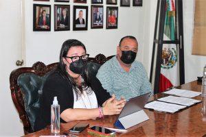 Isabel Mendoza Camacho Sedesu Sinaloa y Ángel Geovany Escobar Presidente Municipal Elota 2021