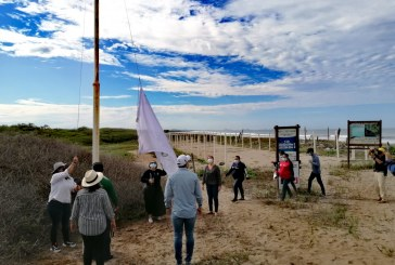 SEDESU iza bandera de Playa Limpia Sustentable en El Verde Camacho