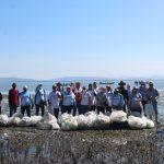 SEDESU y voluntarios recogen 400 kilos de plástico de la isla Tachichilte en la Bahía Santa María