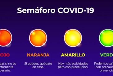 Sinaloa continua con el nivel de riesgo epidémico moderado, es decir, color amarillo